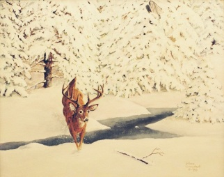 """Deer Running, Sketch 3"""